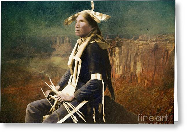 Dignity Greeting Cards - Native Honor Greeting Card by Lianne Schneider