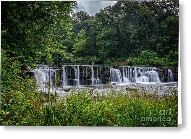 Natural Dam Arkansas Greeting Cards - Natural Dam   Greeting Card by Larry McMahon