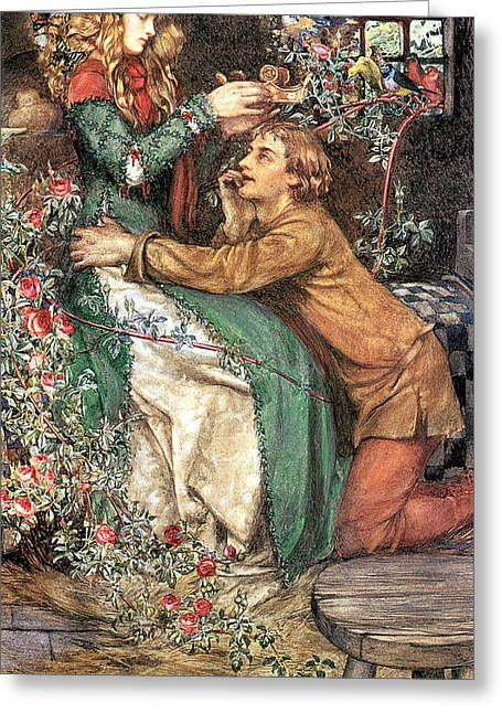 Old Masters Greeting Cards - Natural Magic Greeting Card by Eleanor Fortescue Brickdale
