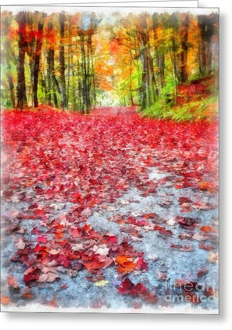 """red Carpet"" Greeting Cards - Natures Red Carpet Greeting Card by Edward Fielding"