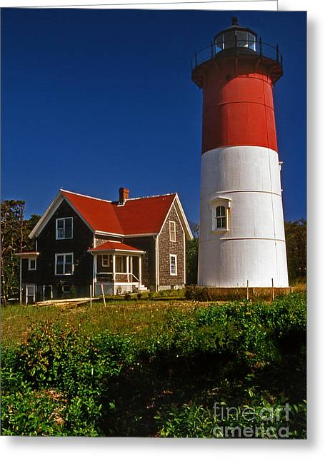 Cape Cod Mass Greeting Cards - Nauset Beach Lighthouse Greeting Card by Skip Willits
