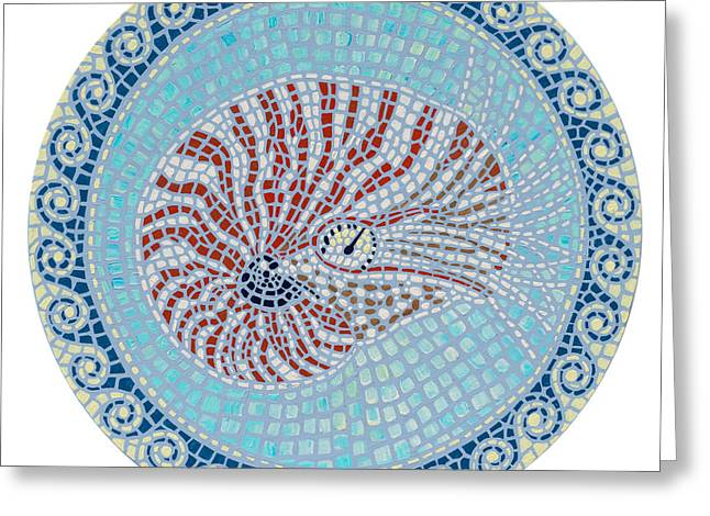 Danielle Perry Greeting Cards - Nautilus Greeting Card by Danielle  Perry