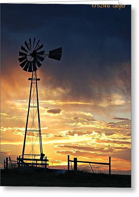 Mills Pyrography Greeting Cards - Nebraska Sunset  Greeting Card by Krisztina  Gayler