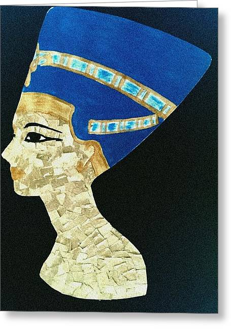 Wall Tapestries - Textiles Greeting Cards - Nefertiti Greeting Card by Hayley Jeenes