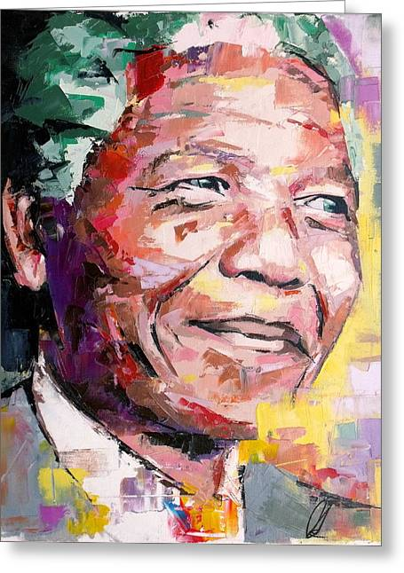 Nelson Greeting Cards - Nelson Mandela Greeting Card by Richard Day