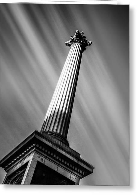 Nelsons Column London Greeting Card by Ian Hufton