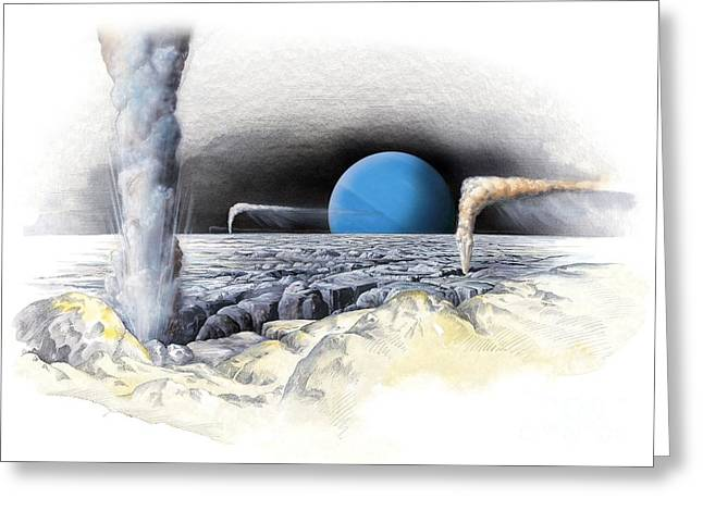 Geologically Greeting Cards - Neptune From Triton, Artwork Greeting Card by Gary Hincks