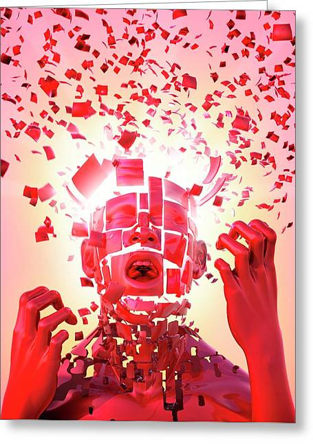 Nervous Breakdown Greeting Card by Tim Vernon