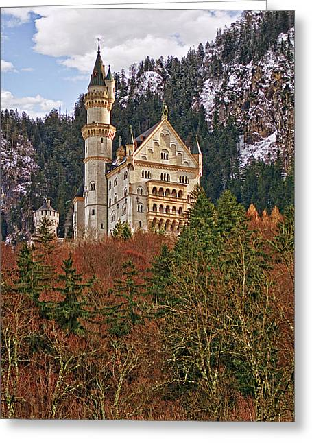 Famous Photographer Greeting Cards - Neuschwanstein Castle Greeting Card by Marcia Colelli