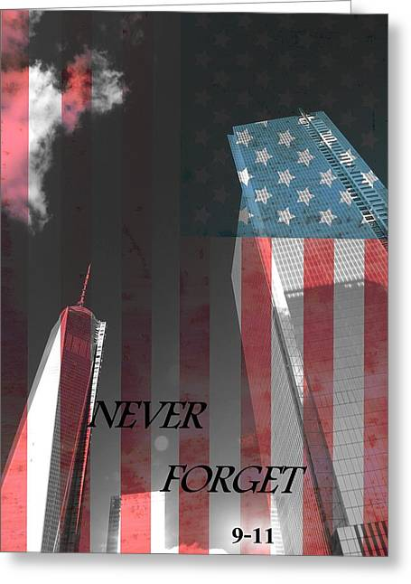 Never Forget Greeting Card by Dan Sproul