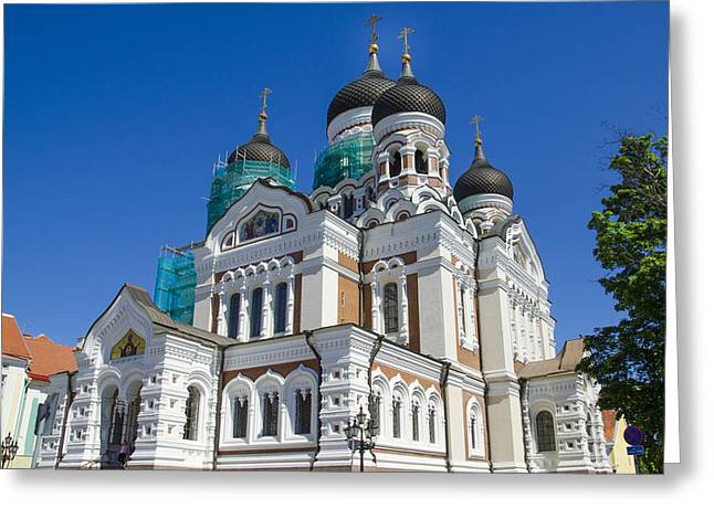 Estonia Greeting Cards - Nevsky Cathedral - Tallin Estonia Greeting Card by Jon Berghoff