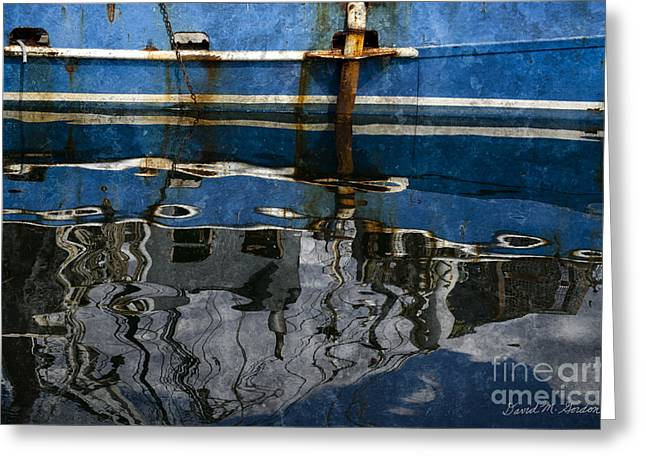 Chromatic Digital Greeting Cards - New Bedford Waterfront No. 9 Greeting Card by David Gordon