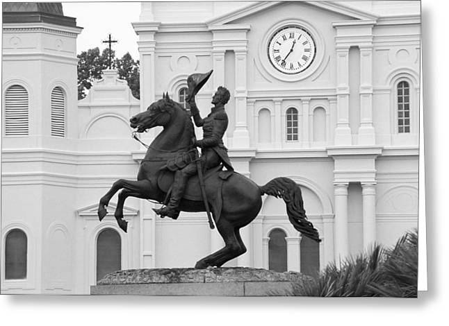 New Orleans Louisiana Framed Prints Greeting Cards - New Orleans - Jackson Square 3 Greeting Card by Frank Romeo