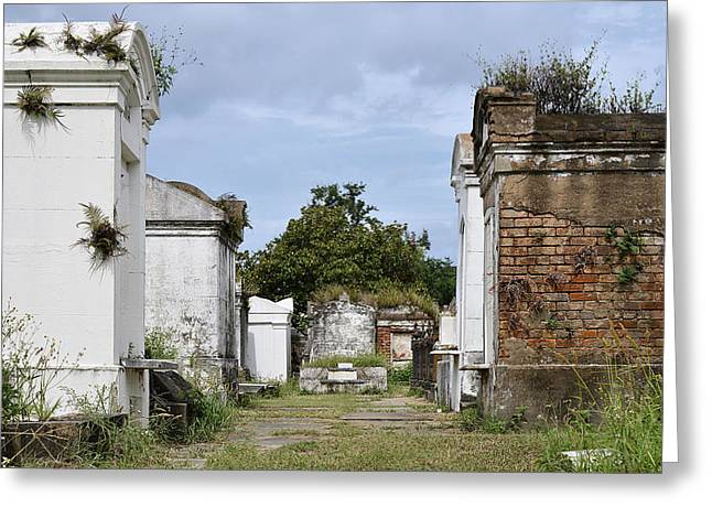 Funeral Greeting Cards - New Orleans Lafayette Cemetery Greeting Card by Christine Till