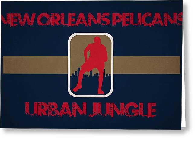 Dunk Greeting Cards - New Orleans Pelicans Greeting Card by Joe Hamilton