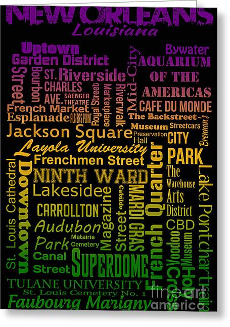 Backstreets Greeting Cards - New Orleans Greeting Card by Ryan Burton