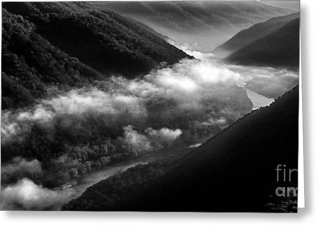 American Heritage Greeting Cards - New River Gorge National River Greeting Card by Thomas R Fletcher