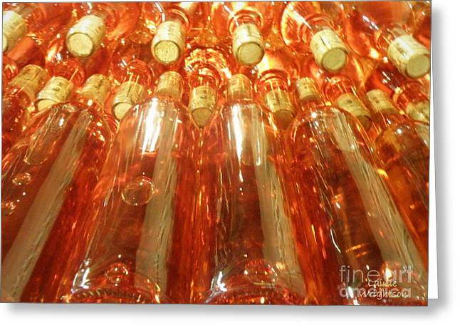 Bottle. Bottling Photographs Greeting Cards - New Wine Greeting Card by Lainie Wrightson
