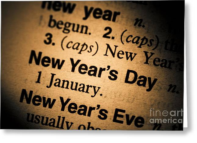 New Years Day Greeting Card by Jorgo Photography - Wall Art Gallery