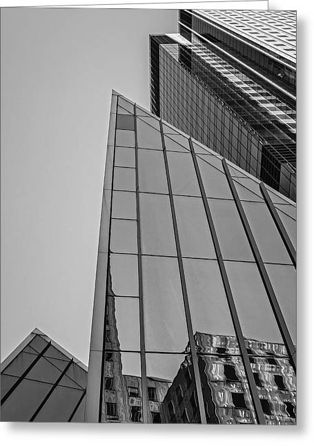 Postmodern Greeting Cards - New York City Architecture Greeting Card by Susan Candelario