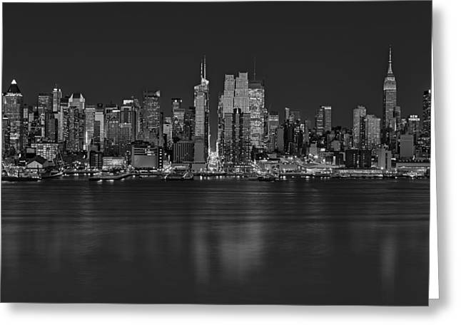 New York City Comes Alives At Sundown Greeting Card by Susan Candelario