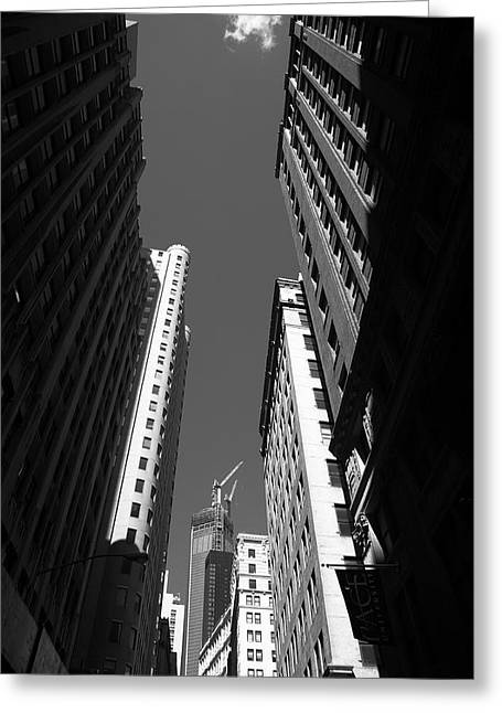 View Framed Prints Greeting Cards - New York City Downtown Greeting Card by Frank Romeo