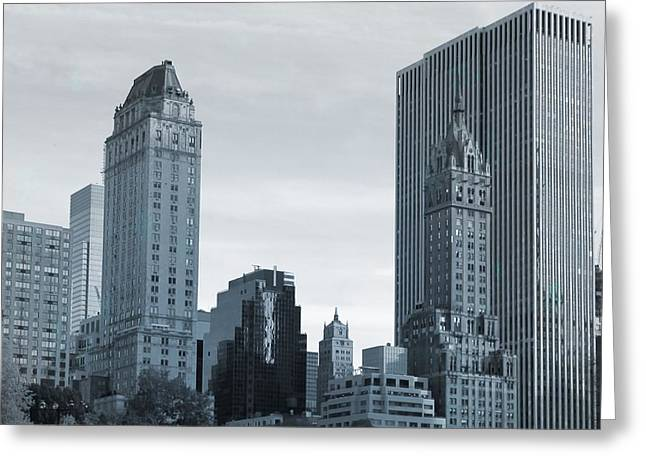 Wollman Rink Greeting Cards - New York City From Central Park Greeting Card by Dan Sproul