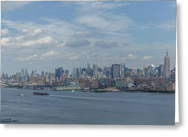 Brooklyn Promenade Greeting Cards - New York Greeting Card by D Plinth