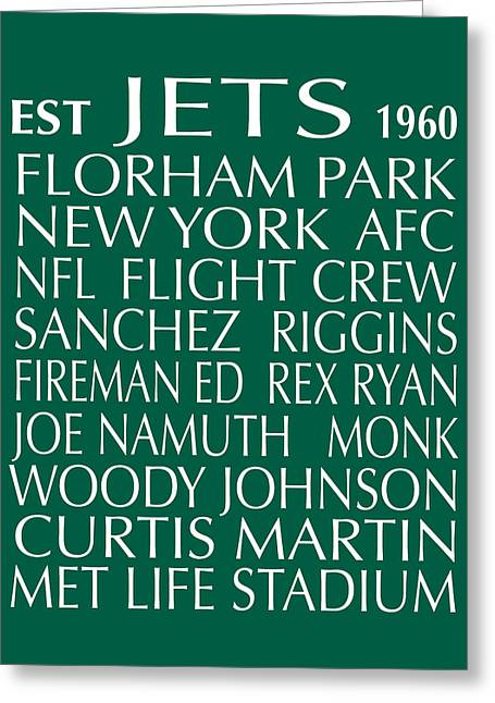 New York Mets Stadium Greeting Cards - New York Jets Greeting Card by Jaime Friedman