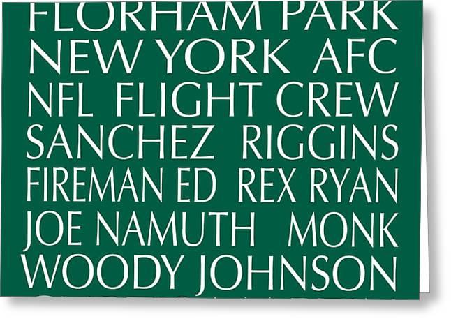 New York Jets Greeting Card by Jaime Friedman