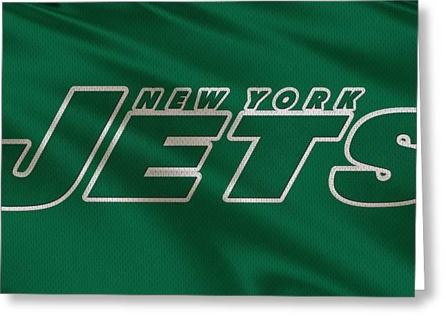New York Jets Greeting Cards - New York Jets Uniform Greeting Card by Joe Hamilton