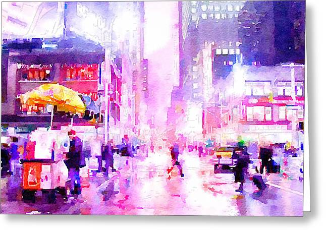 Live Digital Greeting Cards - New York Life 8 Greeting Card by Yury Malkov