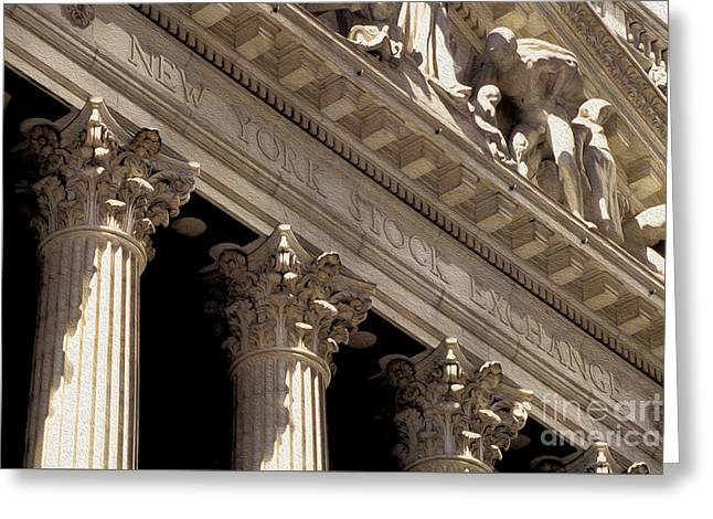 New York Stock Exchange Greeting Card by Jon Neidert