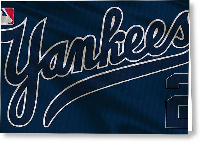 Barn Doors Photographs Greeting Cards - New York Yankees Derek Jeter Greeting Card by Joe Hamilton