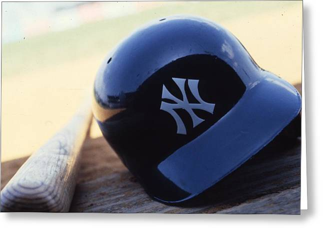 Baseball Art Photographs Greeting Cards - New York Yankees Greeting Card by Retro Images Archive