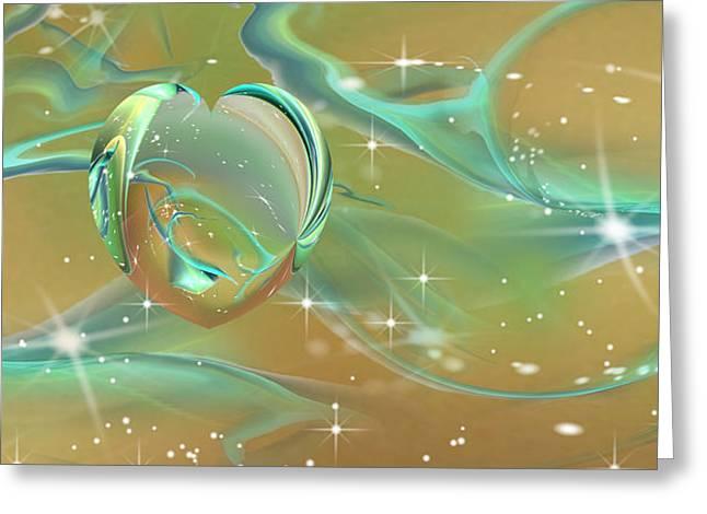 Mix Medium Digital Greeting Cards - Newheart Greeting Card by Phil Sadler