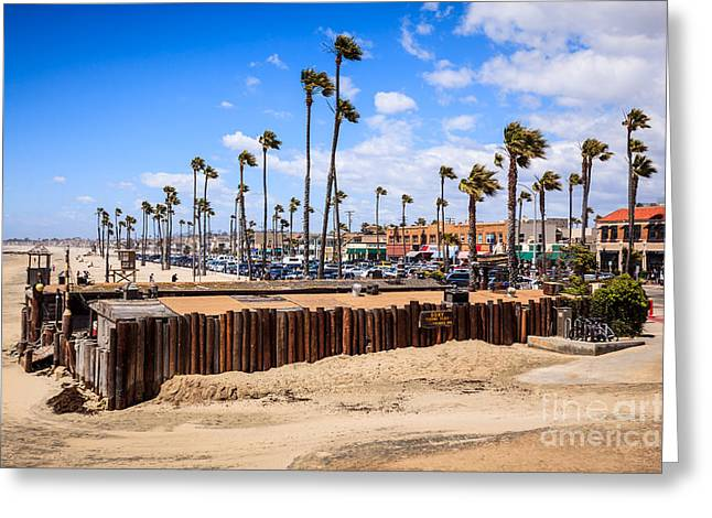 Newport Beach Dory Fishing Fleet Market Greeting Card by Paul Velgos