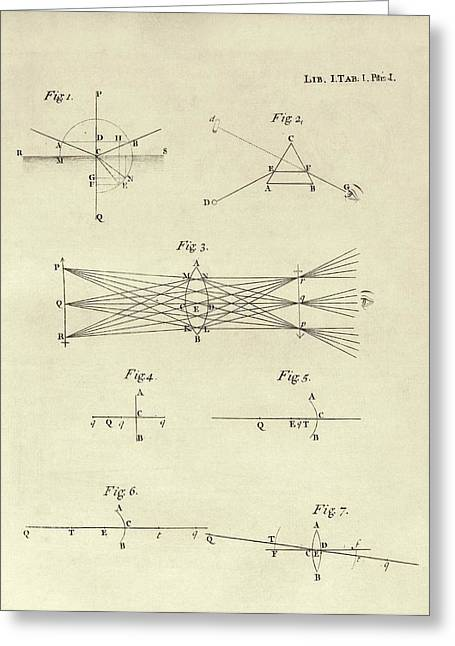 Newton's Optics Greeting Card by Middle Temple Library