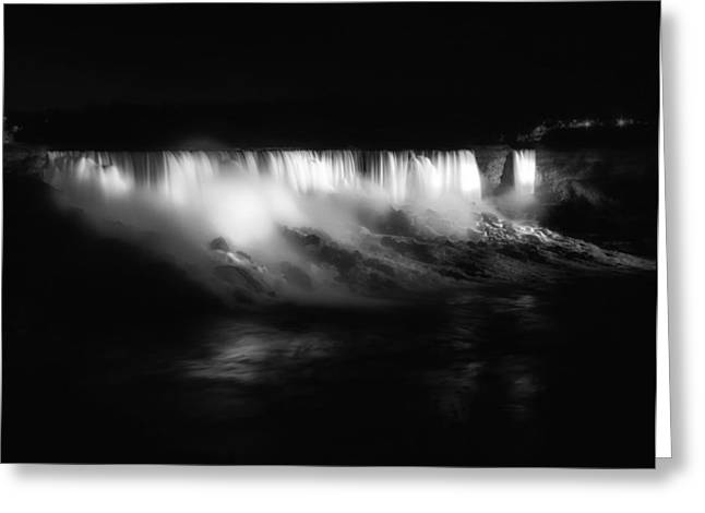 Evening Lights Greeting Cards - Niagara Falls Greeting Card by Mountain Dreams