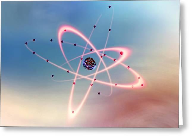 Nickel Greeting Cards - Nickel Atom Greeting Card by Richard Kail