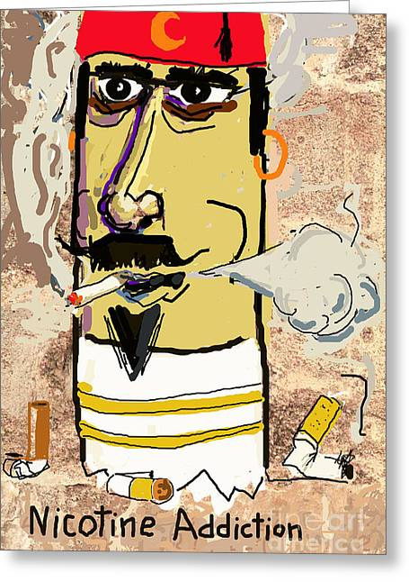Anti Greeting Cards - Nicotine Addiction Greeting Card by Joe Jake Pratt