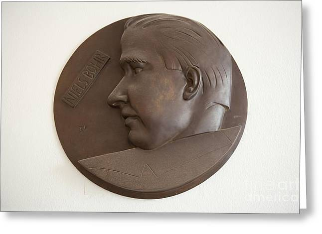 Brown Head Sculpture Greeting Cards - Niels Bohr Sculpture Greeting Card by Adam Hart-davis