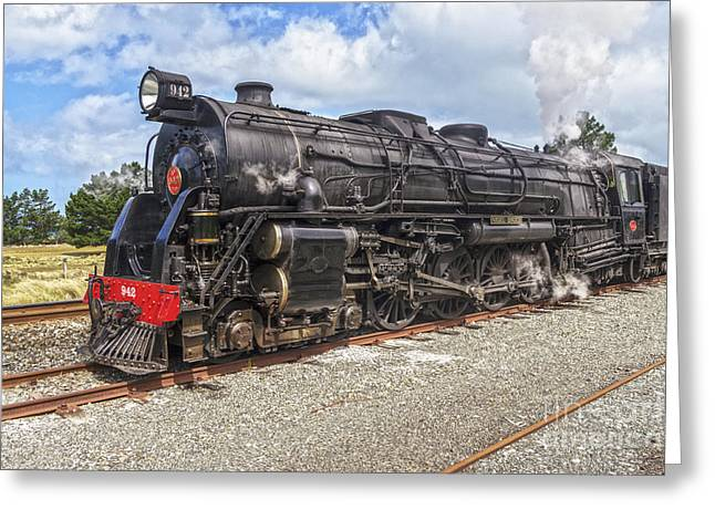 Steaming Greeting Cards - Nigel Bruce Locomotive New Zealand Greeting Card by Colin and Linda McKie