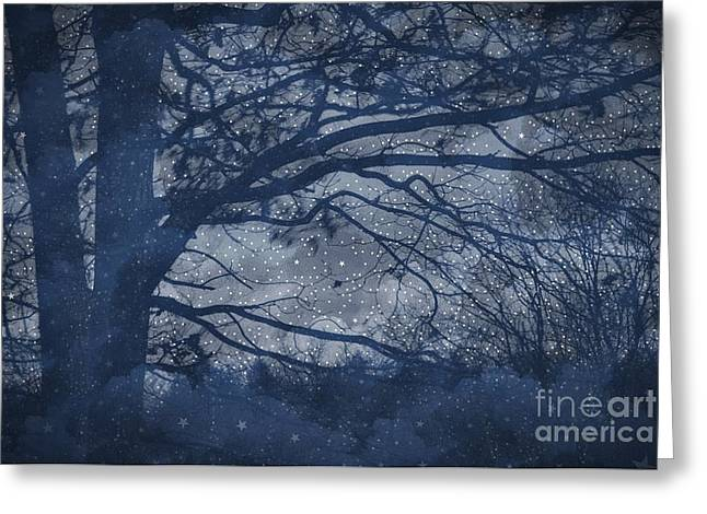Photographs Digital Art Greeting Cards - Night Greeting Card by HD Connelly