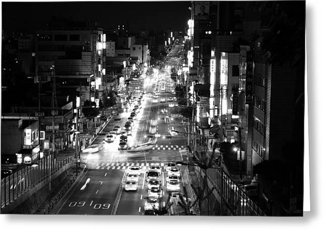Seoul Greeting Cards - Night in Seoul  Greeting Card by Mountain Dreams
