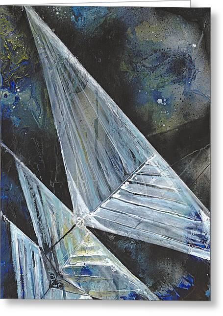 Sailing At Night Greeting Cards - Night Sails Greeting Card by Tanya Kimberly Orme