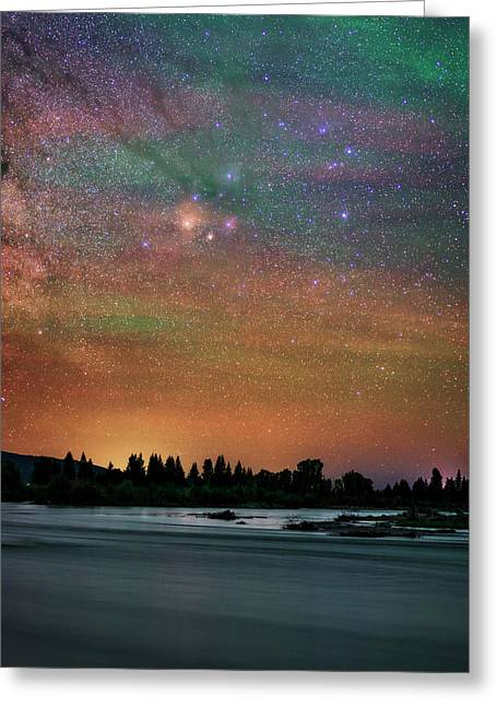 Night Sky Over Grand Teton National Park Greeting Card by Babak Tafreshi