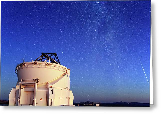 Night Sky Over Paranal Observatory Greeting Card by Babak Tafreshi