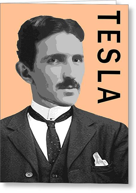 Electrical Engineer Greeting Cards - Nikola Tesla Greeting Card by Daniel Hagerman