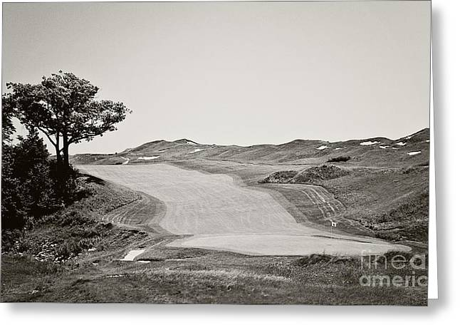 Wisconsin Golf Greeting Cards - Ninth Hole Greeting Card by Scott Pellegrin
